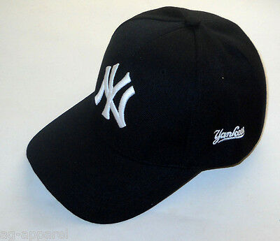 New York Yankees Cap Hat One Size New! (Black)