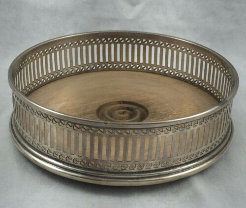 "English Sterling Pierced Wine Coaster-5"" Diameter"
