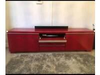 Red High Gloss TV Unit