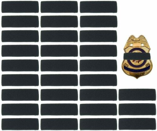 """30 Pack Black Police Mourning Band Stripe Funeral Honor 1/2"""""""