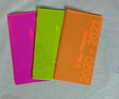2020 2021 Monthly Pocket Planner Calendar Book Appointment Neon 4x6 3x6