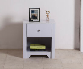 Bedside Cabinet / Table Unit Drawer Shelf Cabinet Solid Wood Bedroom Furniture