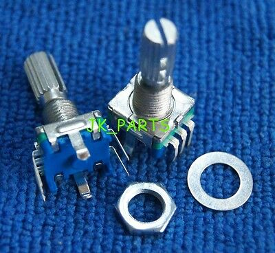 5pcs Rotary Encoder Switch Ec11 Audio Digital Potentiometer 20mm Knurled Shaft