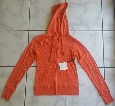 Active Basic Women's New Coral Zip Up Hoodie Jacket Size Medium Women Basic Hoodie Jacket