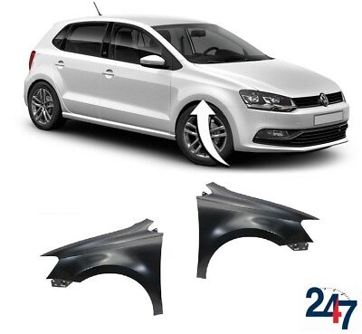 VW Polo 2009-2015 Front Wing Driver Side Right Primed 6R0821106A