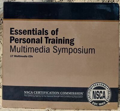 NSCA ESSENTIALS OF PERSONAL TRAINING Multimedia Symposium 17 CD Set Trainer 2006