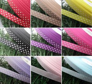 3-8-Upick-5y-Lot-Color-Grosgrain-Ribbon-Print-Dots-Appliques-Craft-Wedding-R850