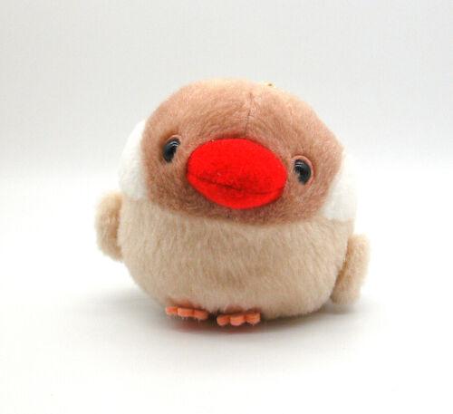 "Amuse Korori Tai fluffy Java Sparrow bird plush toy beanie keychain doll 4"""