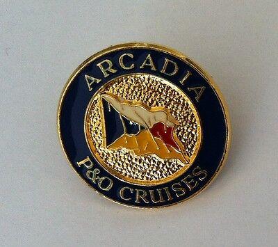 'MV ARCADIA' Ocean Liner P & O Cruise Ship Enamel BADGE Pin