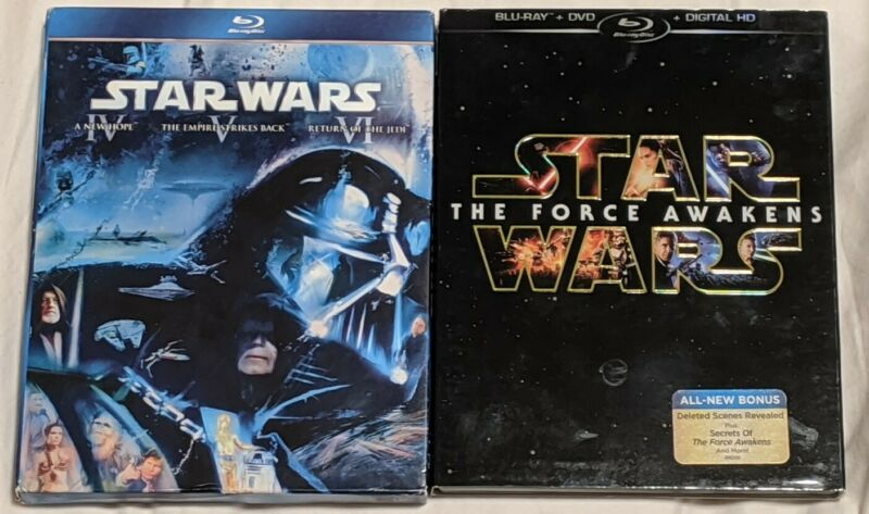 Star Wars-Collection-Lot-Blu Ray + DVD + Digital HD