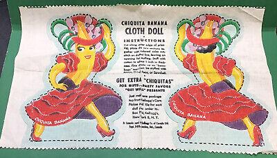 Vintage Kellogg's Corn Flakes Chiquita Banana Cloth Doll Pattern
