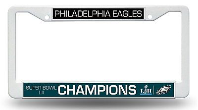 Philadelphia Eagles Super Bowl Champions PLASTIC Frame License Plate Tag Cover