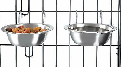 Hanging Pet Bowls for Dogs and Cats- Cage, Kennel, and Crate Feeder Dish, 2pcs