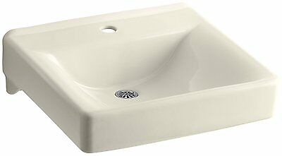 KOHLER K-2084-N-47 Soho Wall-Mount Bathroom Sink with Single-Hole Faucet (Almond Soho Wall Mount)