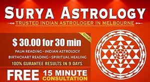 SURYA Professional Indian Psychic & Astrologer Clayton Monash Area Preview