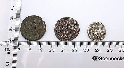 3 alte Münze old Coin Rom Römische Reich Kupfer Roman Empire Medaille medal SC