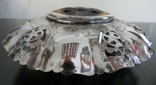 Victorian Fresh Flower Bowl Silver Plate Benedict Proctor Manufacturing Co