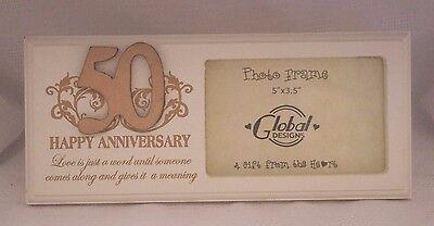 50th Wedding Anniversary Photo Frames - Photo Frame 50th Anniversary Golden Wedding Gift Parents Grandparents Gift F0748