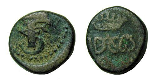 Danish India Tranquebar Frederik III, 1763 4 Kas, Scarce date