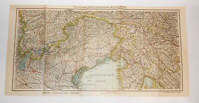 Land Italienisch (Landkarte italienisch - österreichisches Grenzgebiet Flemming um 1915 ! (H1)