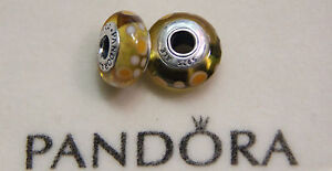 Authentic-Pandora-Yellow-Bubbles-Charm-Bead-790687-w925-ALE-mark-NEW