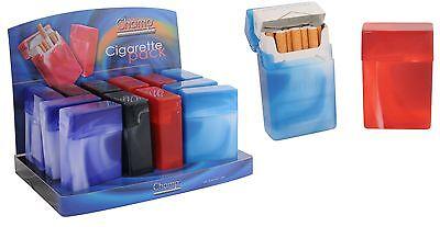 24 x Zigarettenetui Kunststoff  Zigaretten Etui Zigarettenbox Box  mit Display