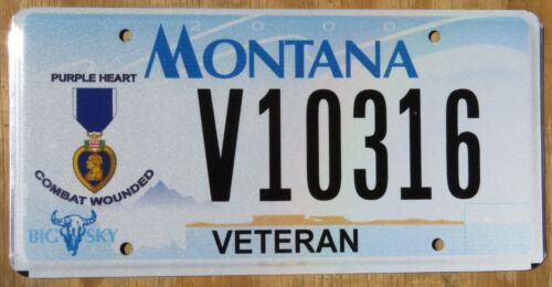 MONTANA PURPLE HEART VETERAN license plate   2005   V10316
