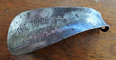 - 1930s Metal Shoe Horn Advertising Home Trade Shoe Store Minneapolis MN Used