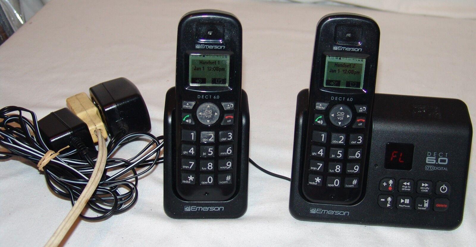 Emerson Dect 6.0 Digital Cordless Phones Bases Answering Mac