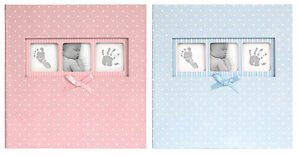 Baby-Girl-Polka-Dot-6-x-4-Pink-Photo-Album-Holds-200-Photos-With-Memo-Area