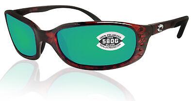 Costa Del Mar Brine Tortoise Frame Green Mirror 580G Glass Polarized (Costa Glass Lens)