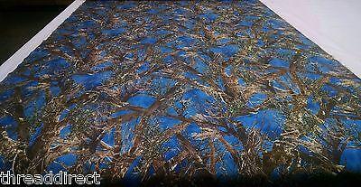 Blue Taffeta (Hunting Camo True Timber MC2 Cobalt Blue Fabric 60