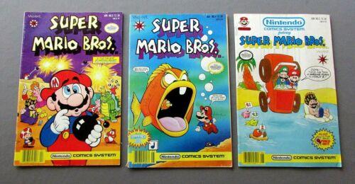 3 NINTENDO Valiant SUPER MARIO BROS. Volume One  No.3 No.4 No.5 COMIC BOOKS 1991