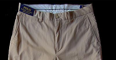 Men's POLO RALPH LAUREN Khaki Pants 40x32 40 NEW NWT Stretch Classic Fit Boating