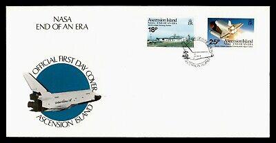 DR WHO 1989 ASCENSION ISLAND FDC NASA END OF AN ERA  C243953