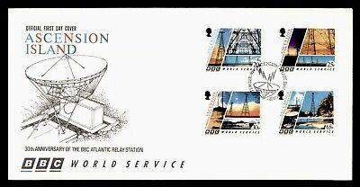 DR WHO 1996 ASCENSION ISLAND FDC 30TH ANNIV BBC ATLANTIC RELAY STATION C243740