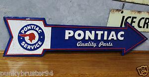 PONTIAC parts METAL arrow embossed signs vintage style Firebird Trans am GTO