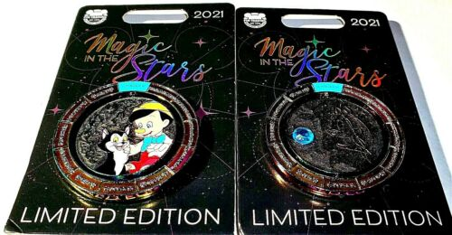 Disney Parks Pinocchio And Figaro Magic In The Stars Pisces LE 4000 Pin