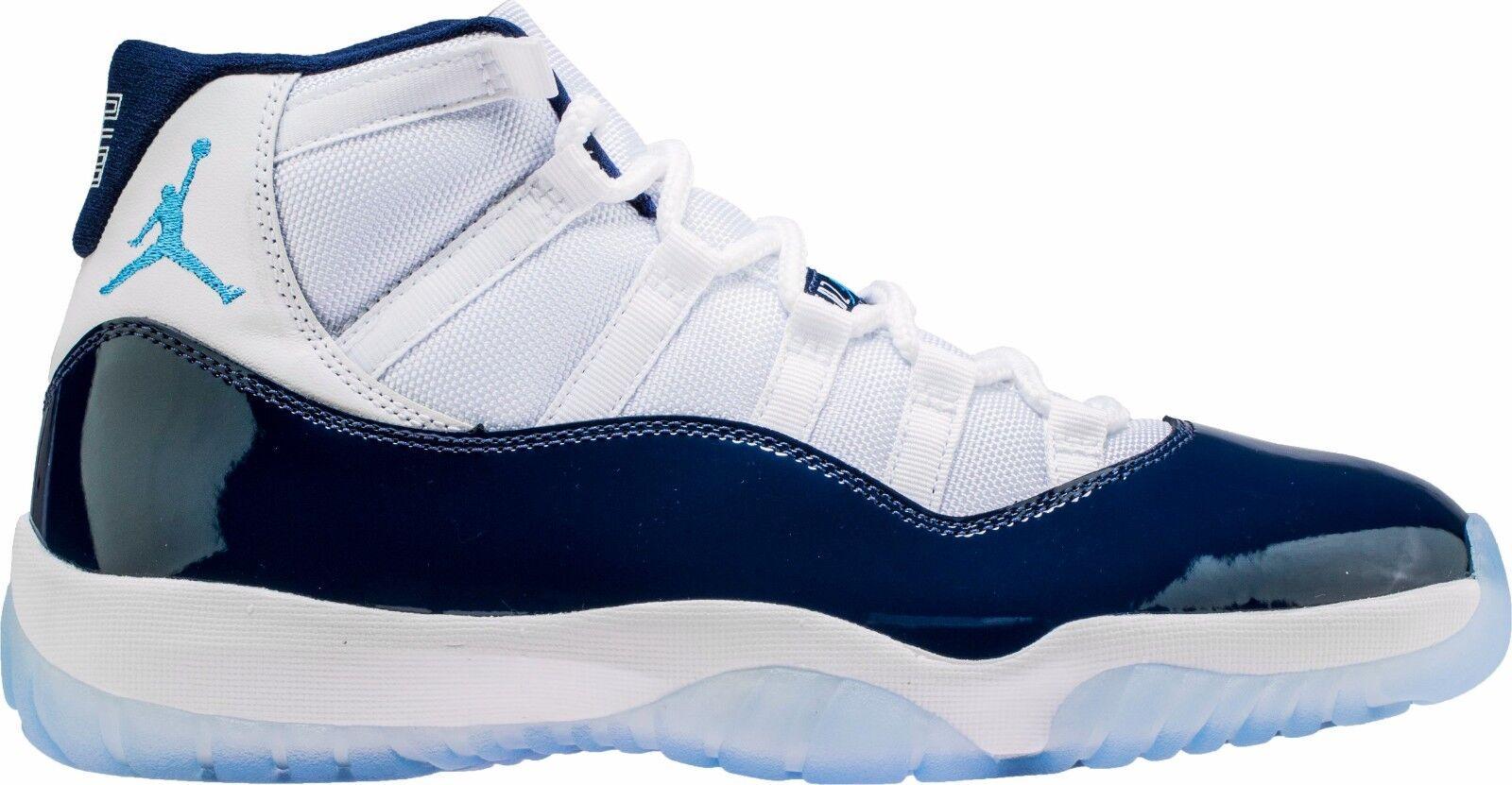 8d081965ab19 Air Jordan 11 Win Like 82 XI Retro UNC Midnight Navy Blue White 378037 123  아이템 넘버  132386908137.