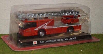 DEL PRADO FIRE ENGINES OF THE WORLD 1:80 2003 NIKKI SKY ACTION LADDER