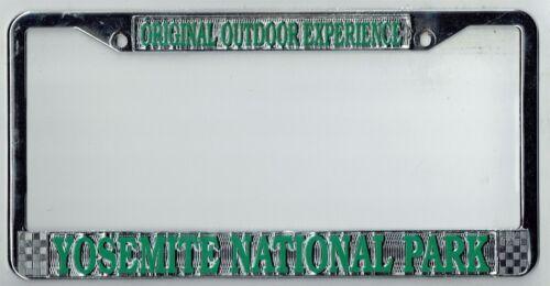 YOSEMITE NATIONAL PARK Vintage California SUPER RARE Metal License Plate Frame