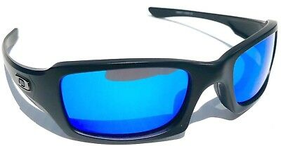 NEW* Oakley FIVES Squared Matte BLACK POLARIZED BLUE & Grey Lens Sunglass oo9238 Black / Polar Grey Lens