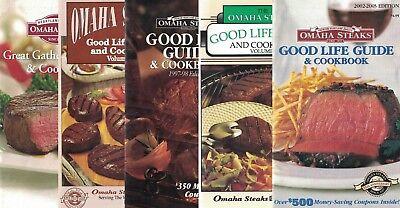 Omaha Steaks Lot Of 5 Small Cookbooks Good Life Steak Entertaining   More