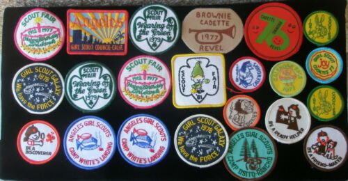Vintage Girl Scouts 40 Badges Patches Los Angeles Late 1970