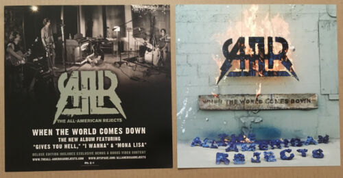 ALL AMERICAN REJECTS Rare 2008 SET 2 DOUBLE SIDED PROMO POSTER FLAT for When CD