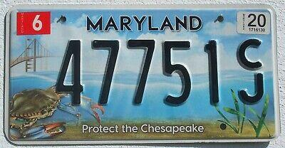 Maryland 2020 USA Auto Nummernschild Chesapeake Grafik License Plate