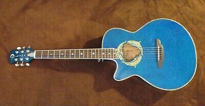 Luna Left Handed Fauna Dolphin Acoustic Guitar