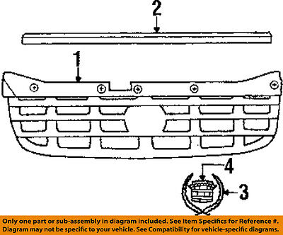 Cadillac GM OEM 00-01 Catera-Grille Grill 9193491