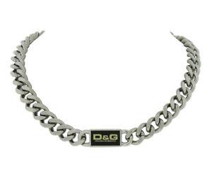 d8b63c41 Dolce & Gabbana Jewels DJ0440 Men's Black Stainless Steel Curb Style ...