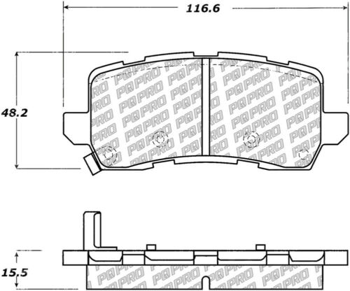 Disc Brake Pad Set fits 2014-2019 Acura RLX TLX CENTRIC